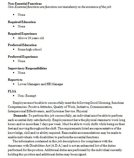 Delightful Starbucks Resume Resume Format Download Pdf Reentrycorps  Barista Job Description Resume